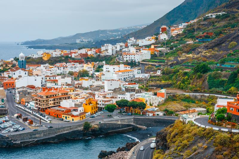 Garachico dans Ténérife, Îles Canaries, Espagne photos stock