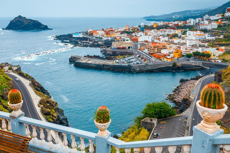 Garachico i Tenerife, kanariefågelöar, Spanien royaltyfria bilder