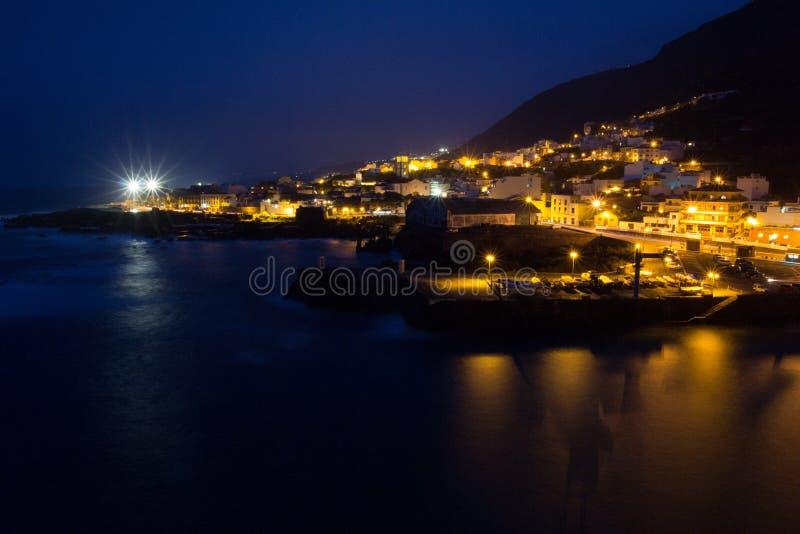 Garachico-Nachtansicht lizenzfreie stockbilder