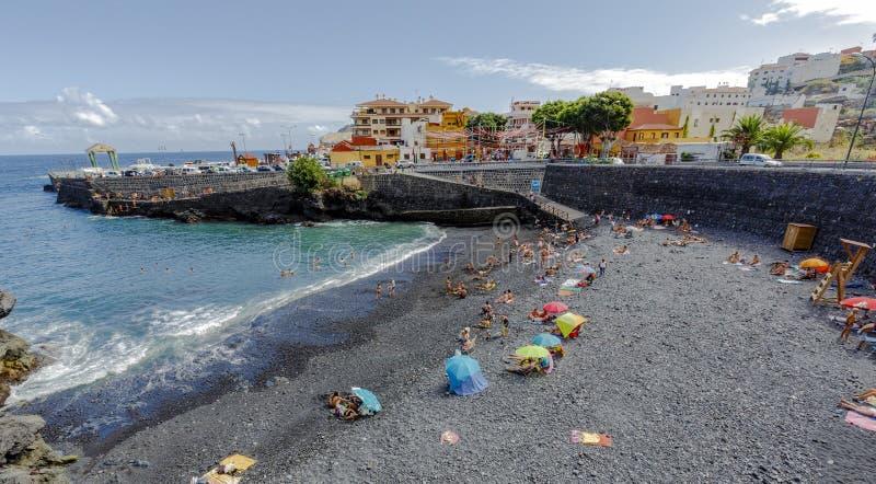Garachico stranden en de Atlantische Oceaan spanje royalty-vrije stock foto