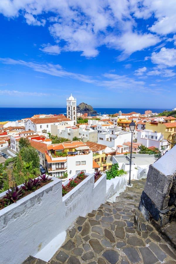Garachico, Ténérife, Îles Canaries, Espagne : Aperçu du col image stock