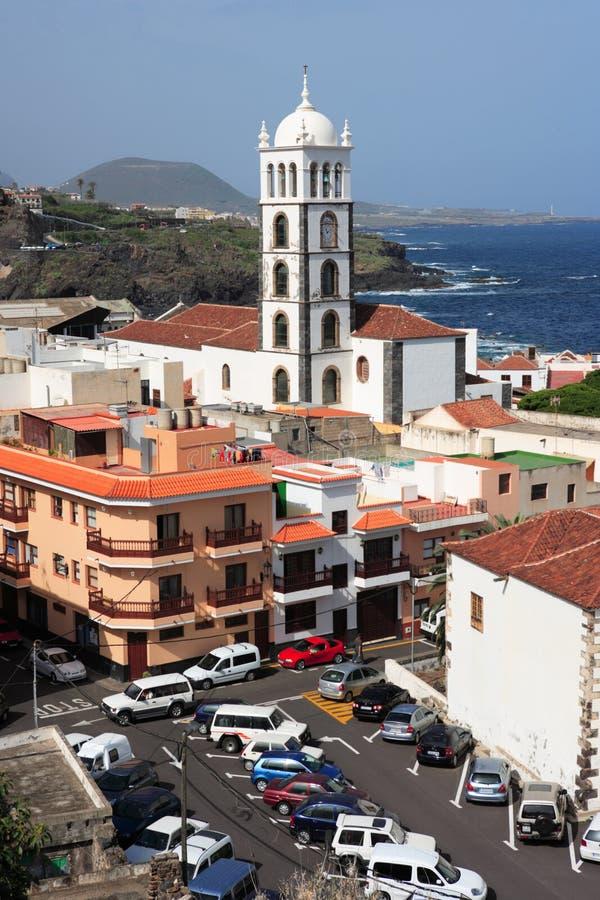 Garachico, Tenerife, Spagna - 2 marzo 2008: vista della città fotografia stock