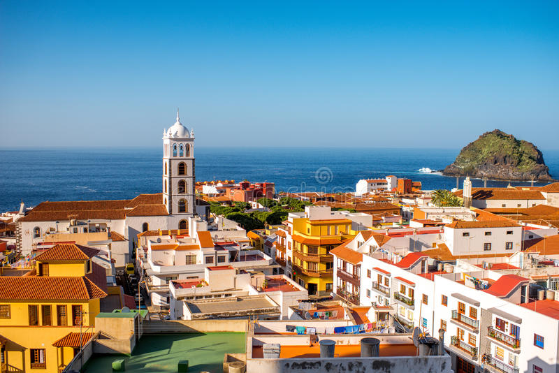 Garachico town cityscape view royalty free stock images