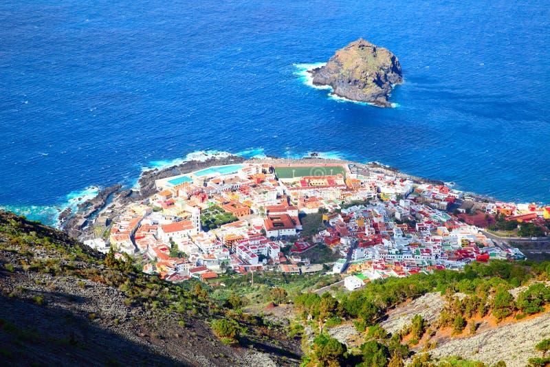 Garachico Town i Tenerife royaltyfri foto