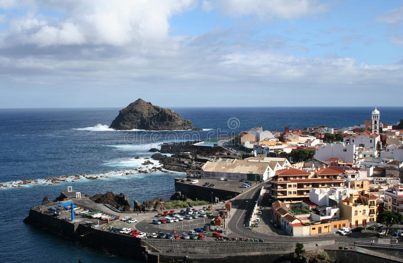 Garachico. Town in Tenerife stock photography