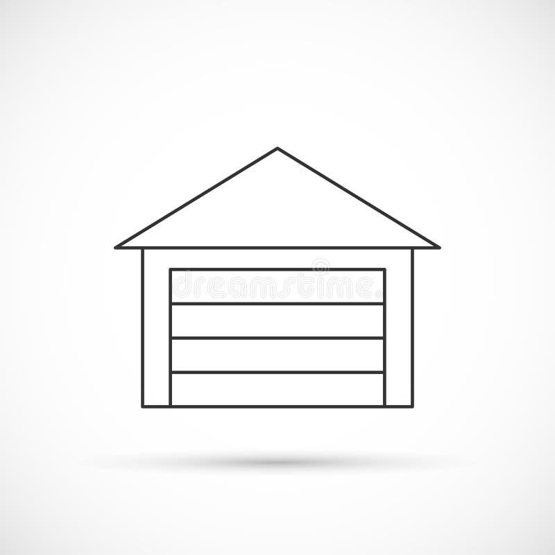 Garageöversiktssymbol royaltyfri illustrationer