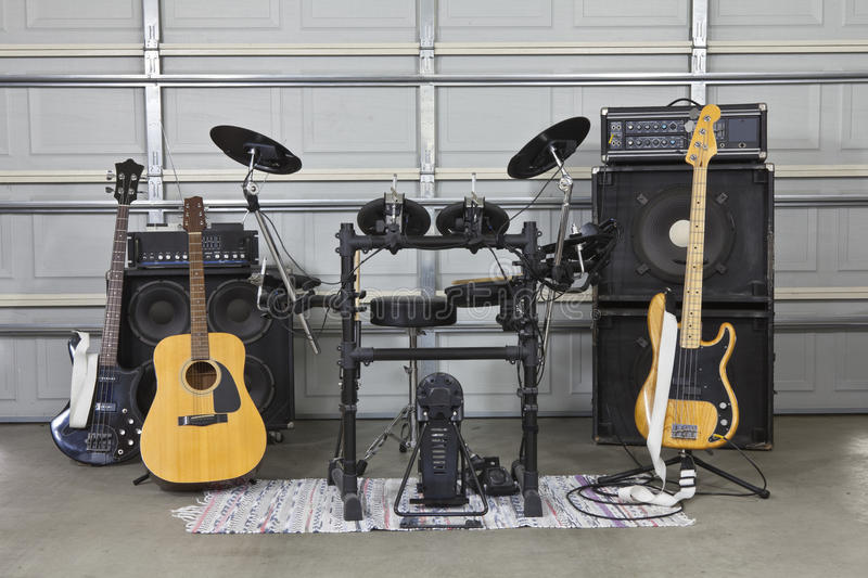 Garage Band Set Up stock photos