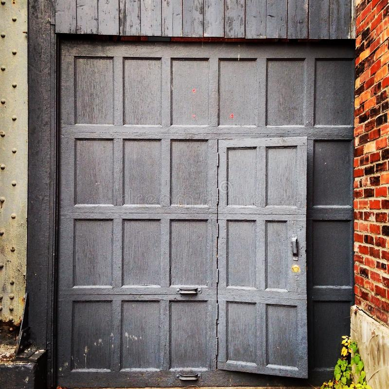 Download Garage Door In The Alley Stock Photo. Image Of Square   62599722