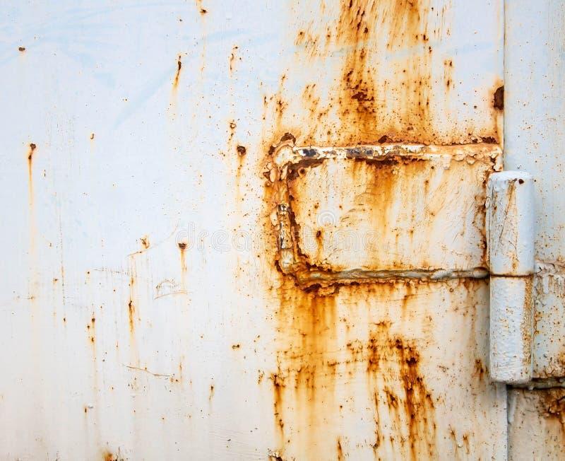 Garage door hinge rust stock images