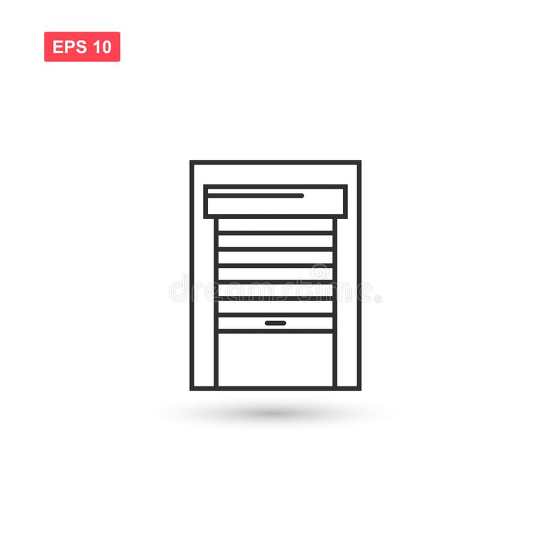 Garage door icon vector design isolated 9 royalty free illustration