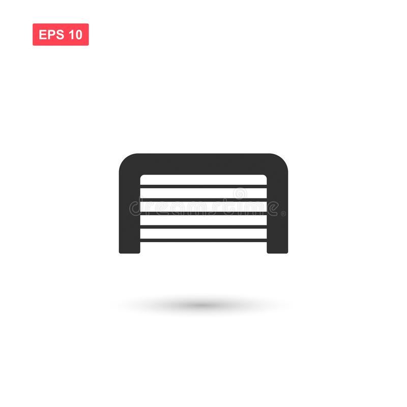 Garage door icon vector design isolated 4 royalty free illustration