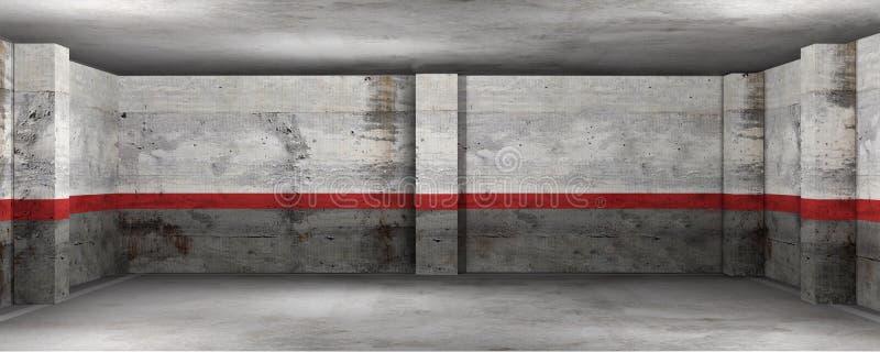Garage exit vector illustration