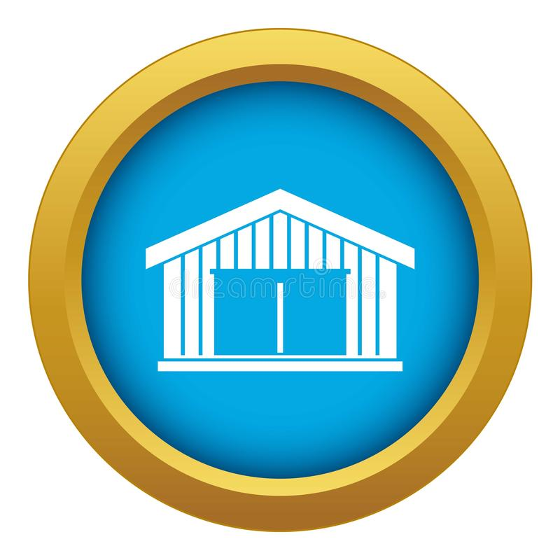 Garage icon blue vector isolated stock illustration