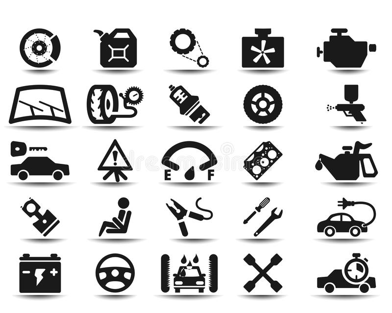 Download Garage icons stock vector. Image of brake, gear, service - 29942612