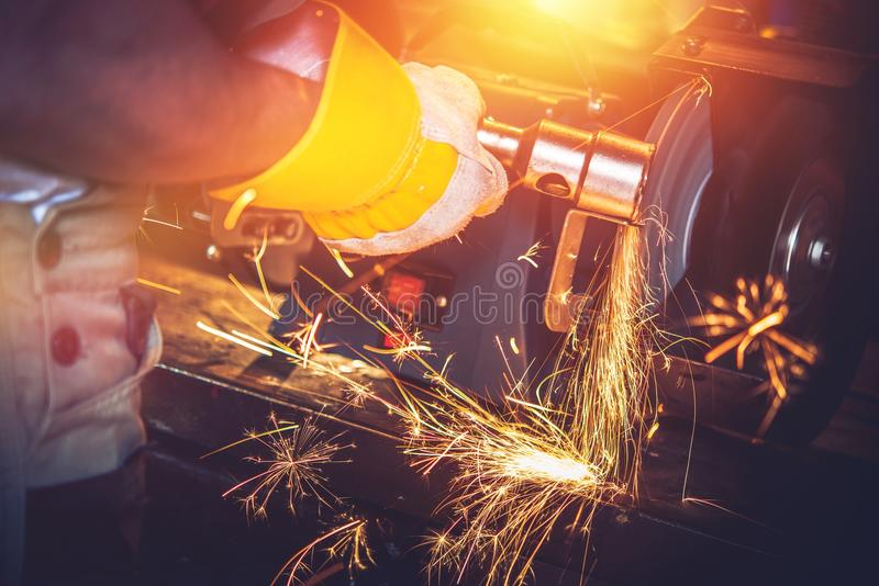 Garage Metal Works royalty free stock image