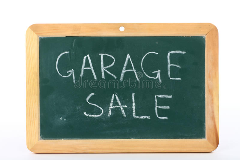 Garage sale. Text written on blackboard royalty free stock photography