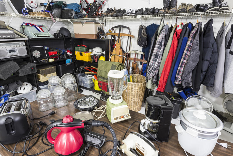Garage sale royalty-vrije stock foto's