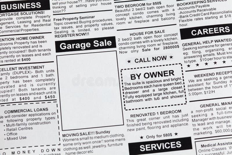 Garage sale royalty-vrije stock afbeelding