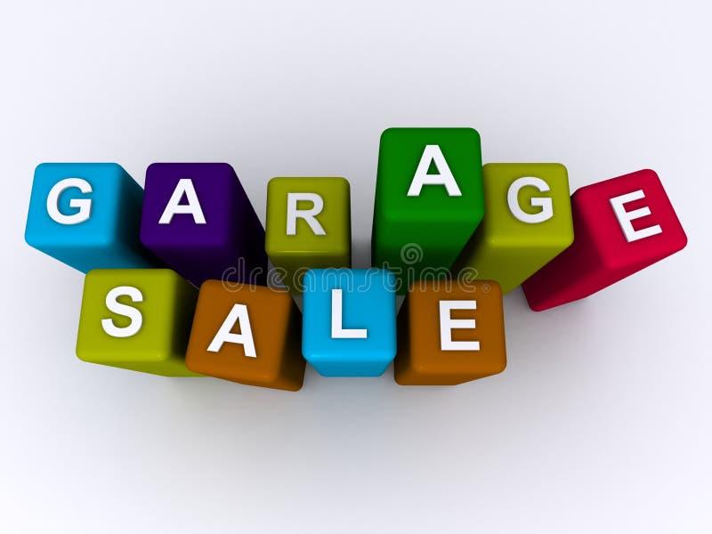 Garage sale stock foto's