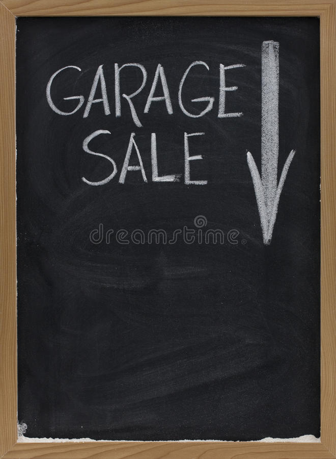 Download Garage Sale Blackboard Sign Stock Photo - Image of sign, copy: 10977668