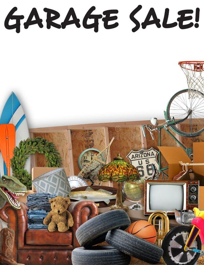 Garage Sale Flyer Sign. Garage Yard Sale Flyer Poster Sign royalty free stock images