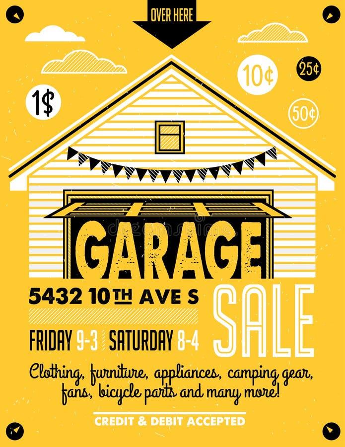 download garage sale poster stock vector illustration of back 73328262