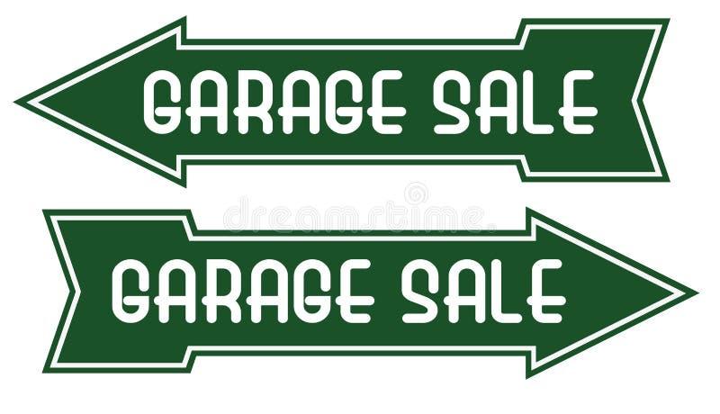 Garage Sale Sign Arrow Pointing Way royalty free illustration
