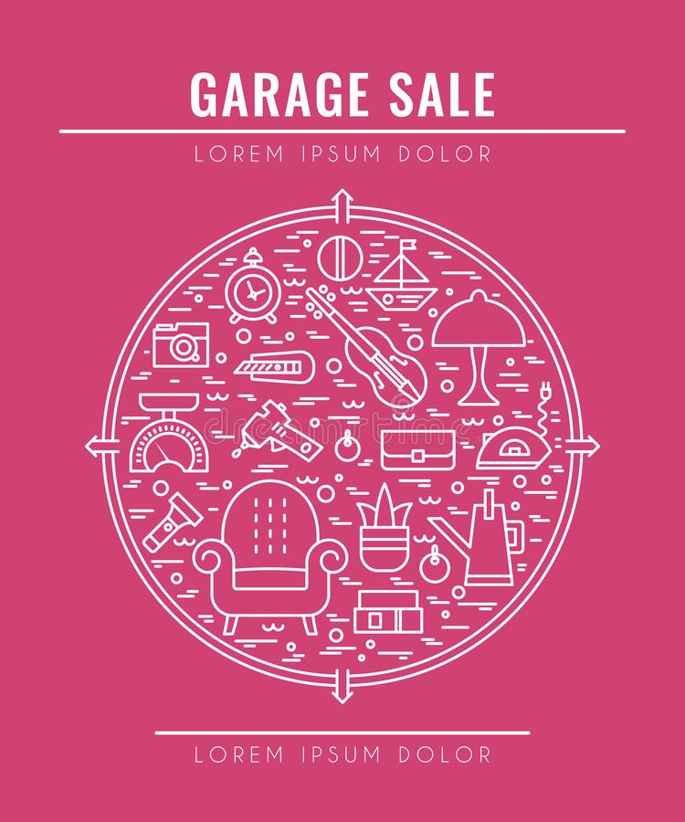 Garage saleconcept 3 royalty-vrije stock foto
