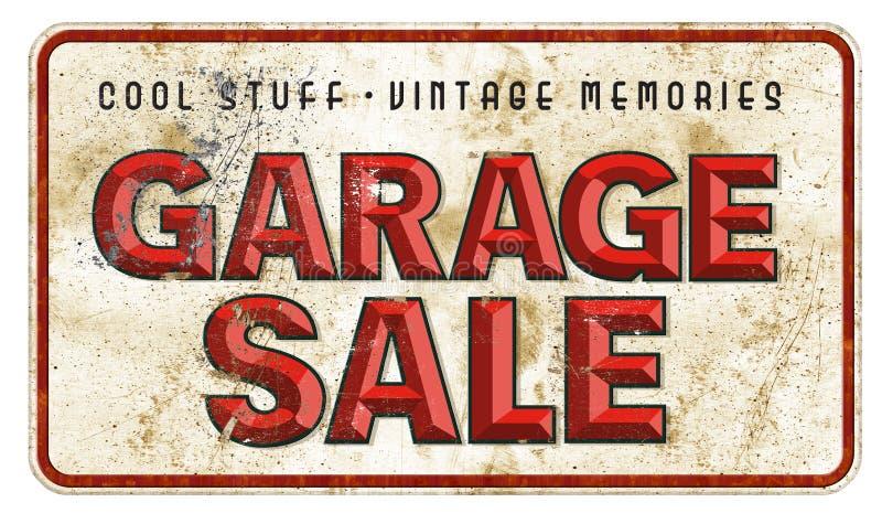 Garage saleteken Uitstekende Grunge vector illustratie