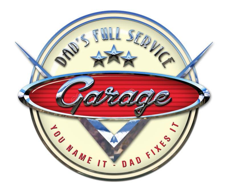 Garage Sign Chrome vector illustration