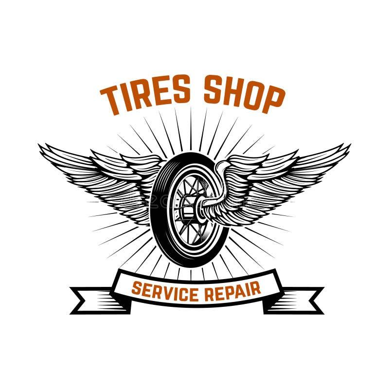 garage Tankstelle Autoreparatur Gestaltungselement für Logo, Aufkleber, Emblem, Zeichen lizenzfreie abbildung