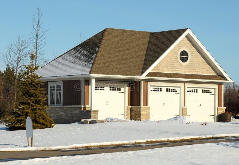 Garage triple image stock