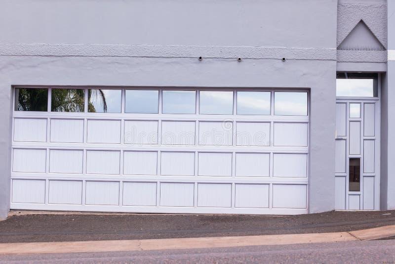 Garage Visitors Doors Entrance stock photos