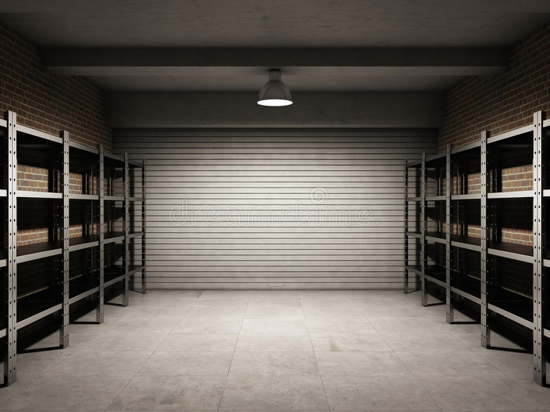 Garage vuoto fotografie stock libere da diritti
