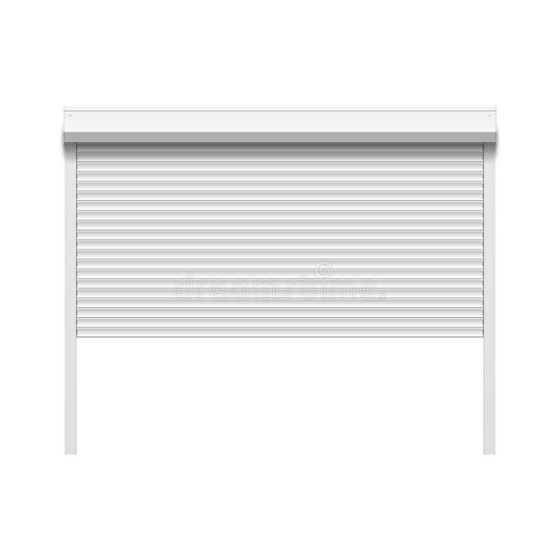 Garagedörr med rullande slutare stock illustrationer