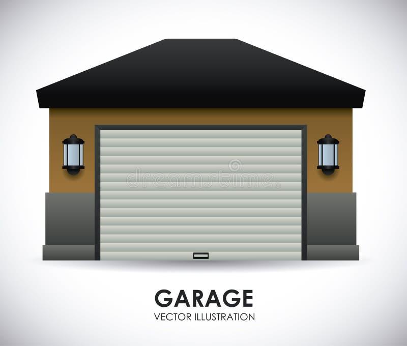 Garagedesign vektor illustrationer