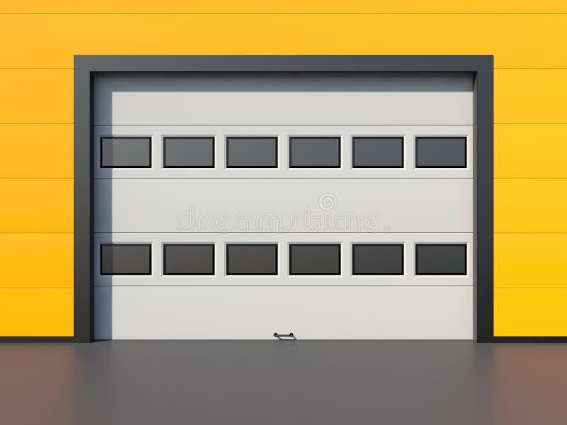 Garagedeur of industriële deur stock illustratie