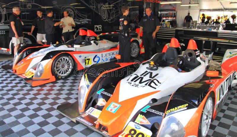 Garagem da raça fotografia de stock