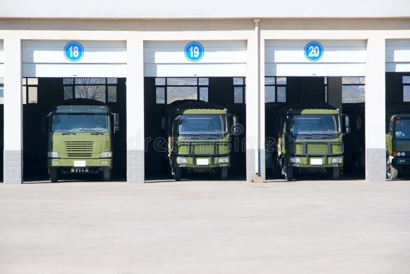 Garagem do caminhão fotografia de stock royalty free