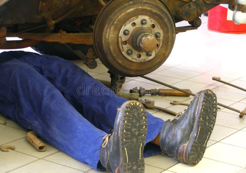 Garagem-homem, fotografia de stock
