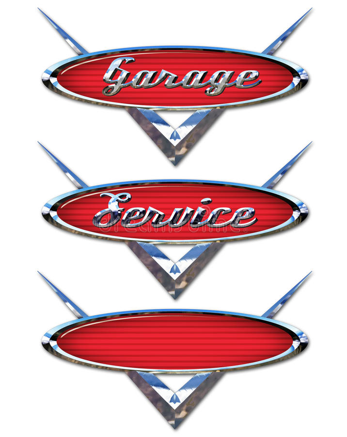 Garagen-Service-Logos stock abbildung