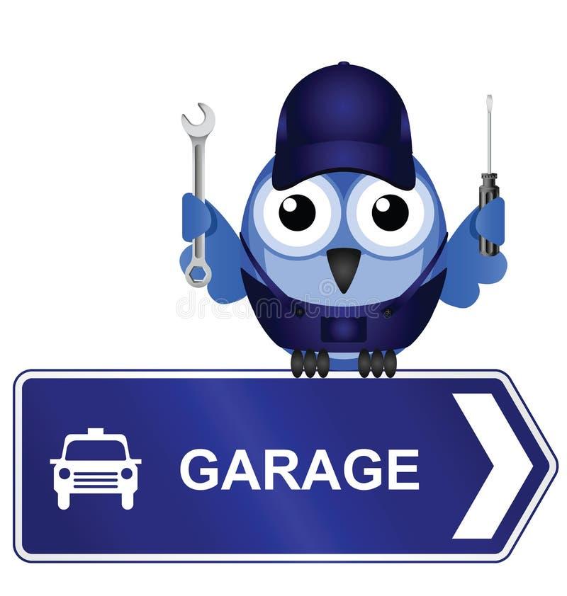 Garagen-Zeichen vektor abbildung