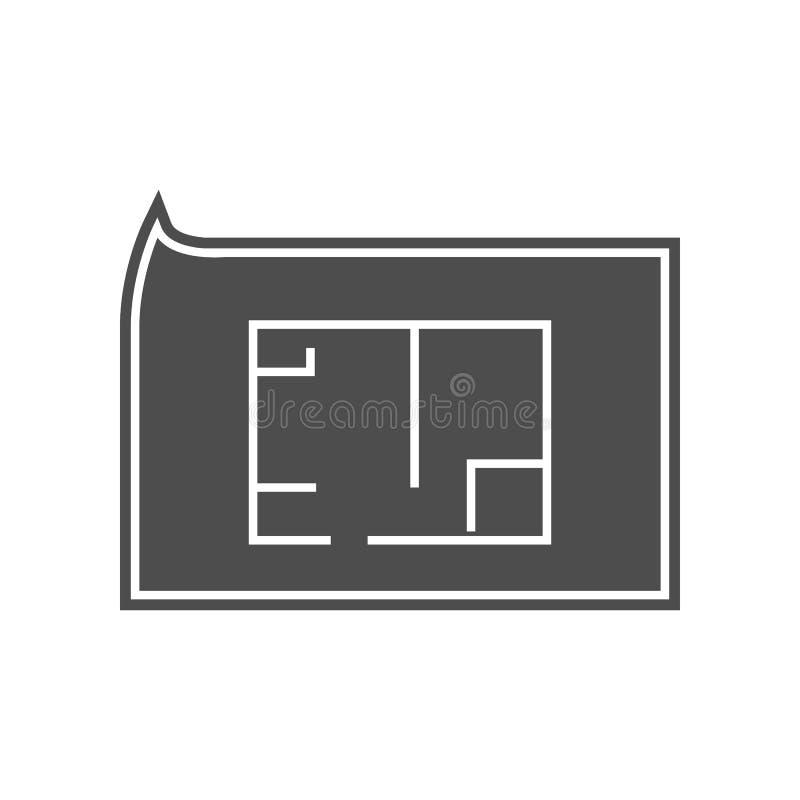 Garagenikone Element von minimalistic f?r bewegliches Konzept und Netz Appsikone Glyph, flache Ikone f?r Websiteentwurf und Entwi stock abbildung