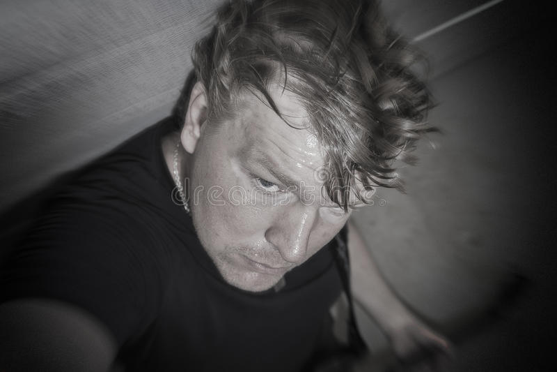 Garagenrock selfie stockfotos