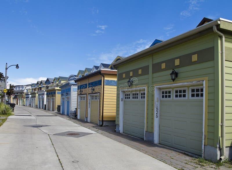 Garagens fotografia de stock