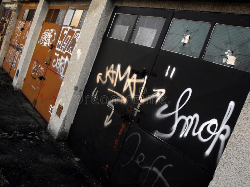 Garages de graffiti photos libres de droits
