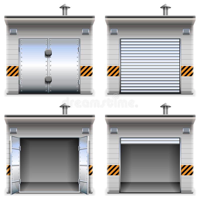 Garages de vecteur illustration stock