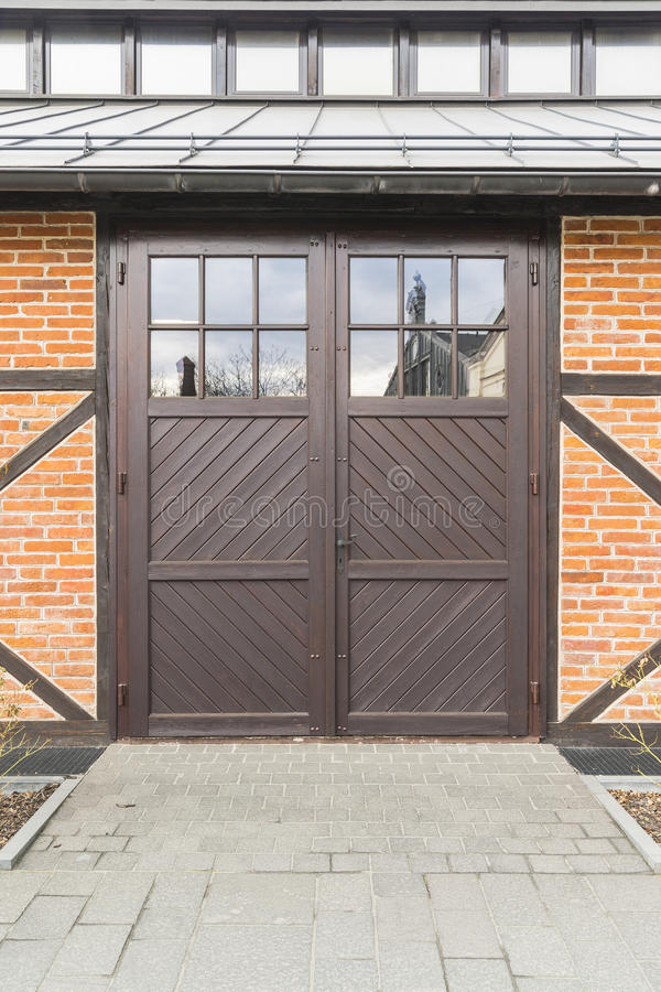 Garages and door royalty free stock photos