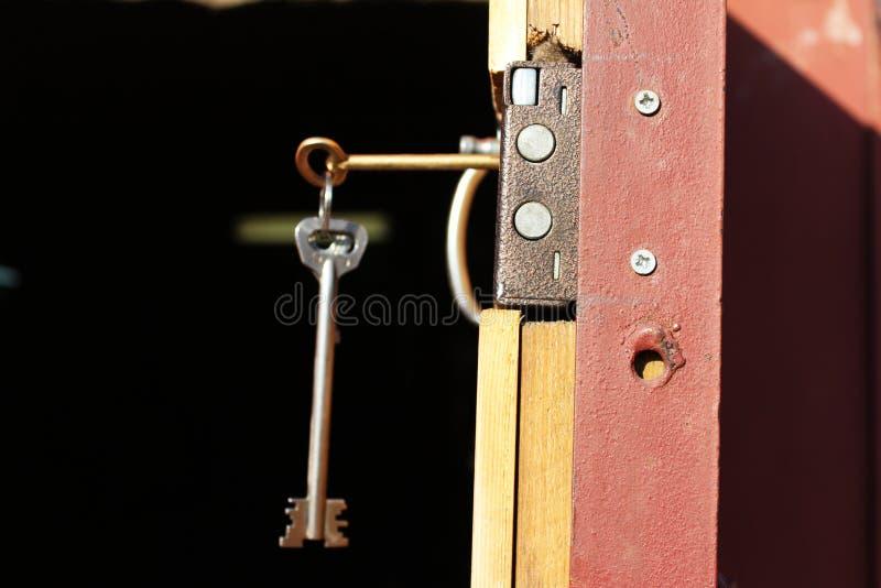 Garaje de la cerradura de puerta fotografía de archivo libre de regalías