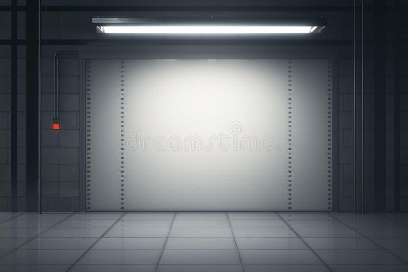 Garaje del Grunge stock de ilustración